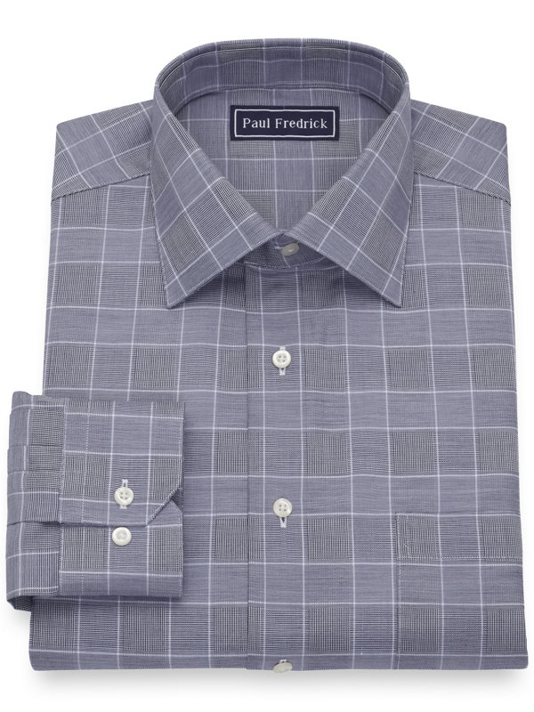 Pure Cotton Glen Plaid Dress Shirt