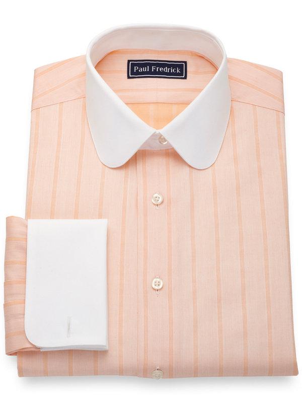 Slim Fit Pure Cotton Herringbone Dress Shirt