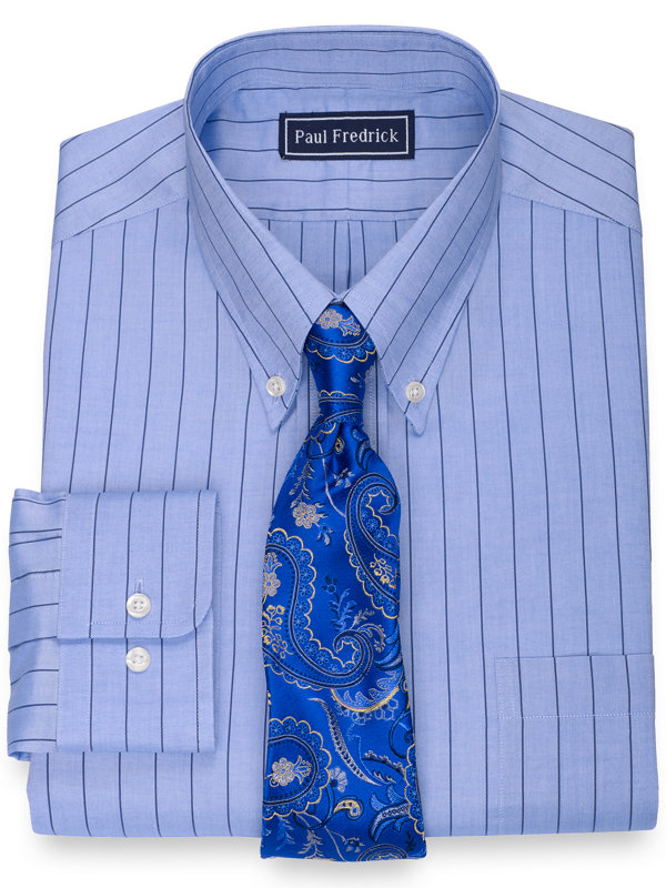Pure Cotton Fine Line Stripe Dress Shirt