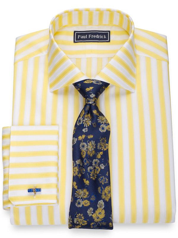 Pure Cotton Bold Stripe Dress Shirt