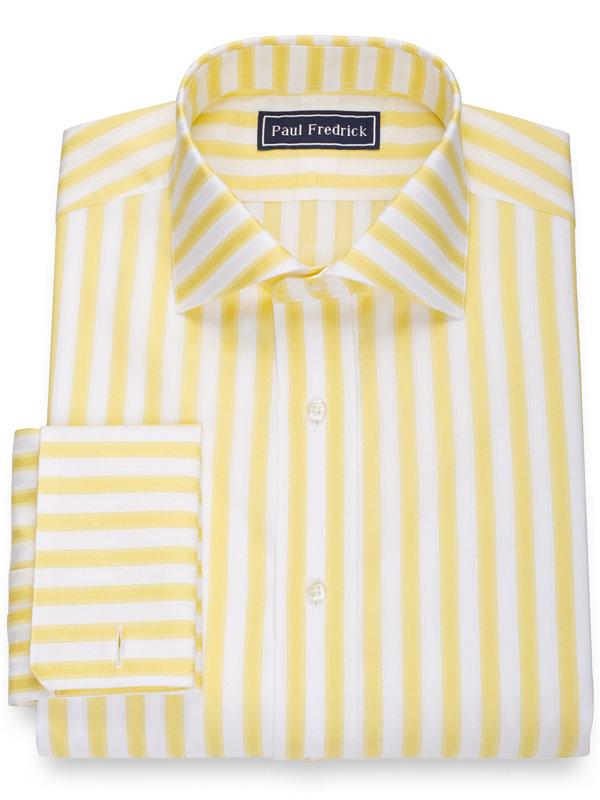 Slim Fit Pure Cotton Bold Stripe Dress Shirt