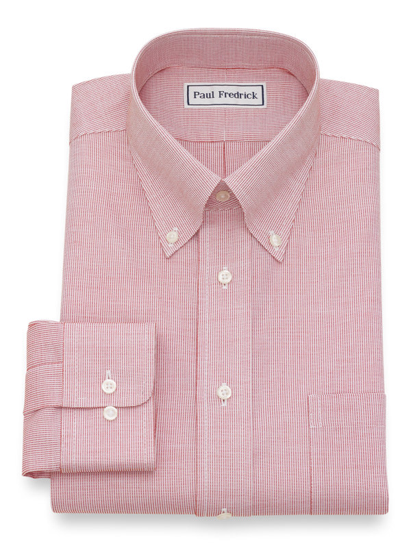 Non-Iron Cotton Textured Pattern Dress Shirt