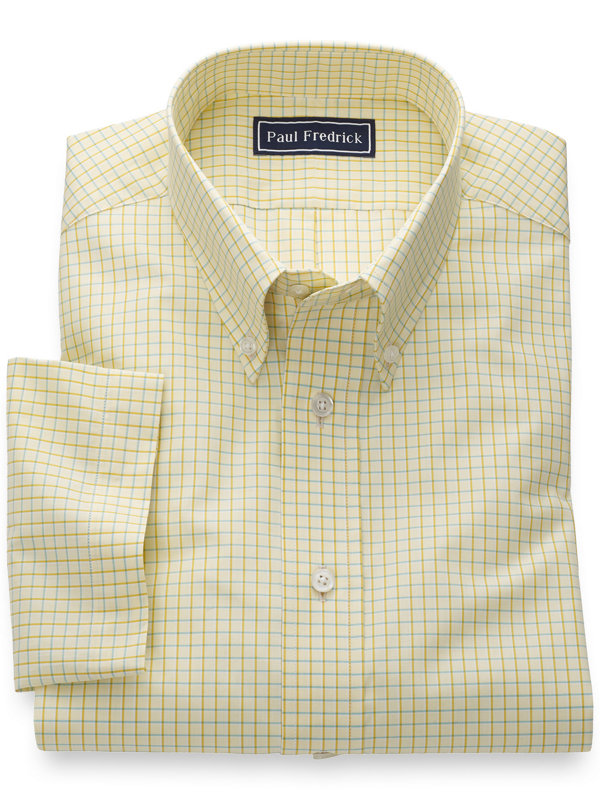 Slim Fit Pure Cotton Check Short Sleeve Shirt