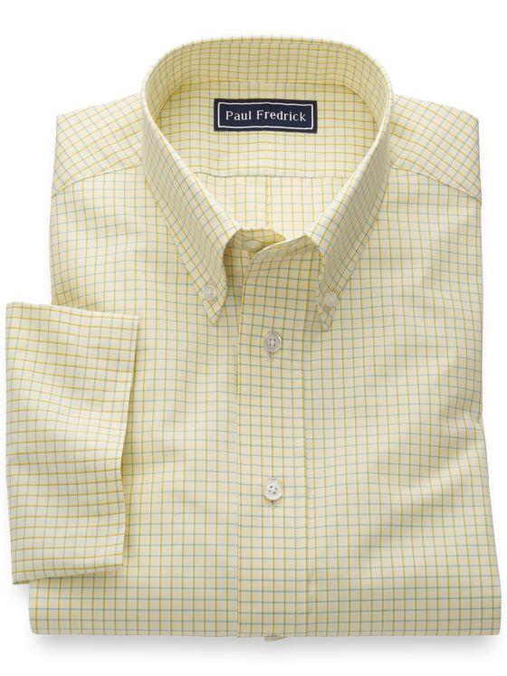 Slim Fit Pure Cotton Check Short Sleeve Shirt