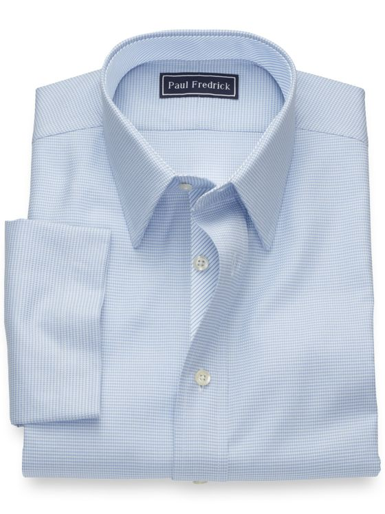 Slim Fit Pure Cotton Houndstooth Short Sleeve Shirt with Contrast Trim