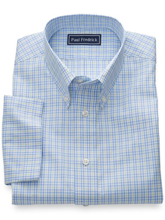 Pure Cotton Tattersall Short Sleeve Shirt