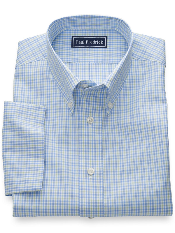 Slim Fit Pure Cotton Tattersall Short Sleeve Shirt