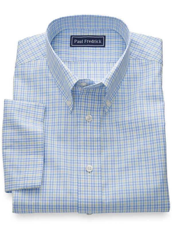 Slim Fit Pure Cotton Tattersall Short Sleeve Shirt