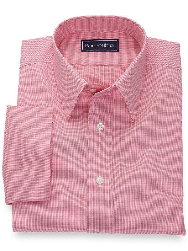 Pure Cotton Mini Check Short Sleeve Shirt