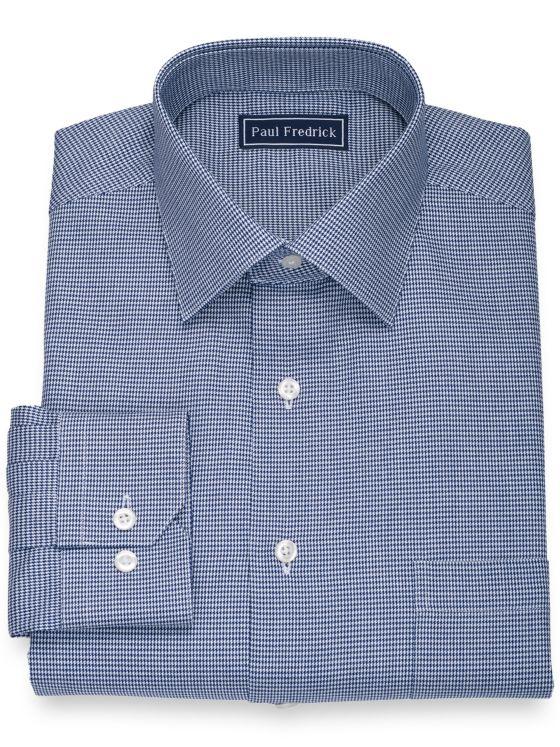 Pure Cotton Houndstooth Dress Shirt