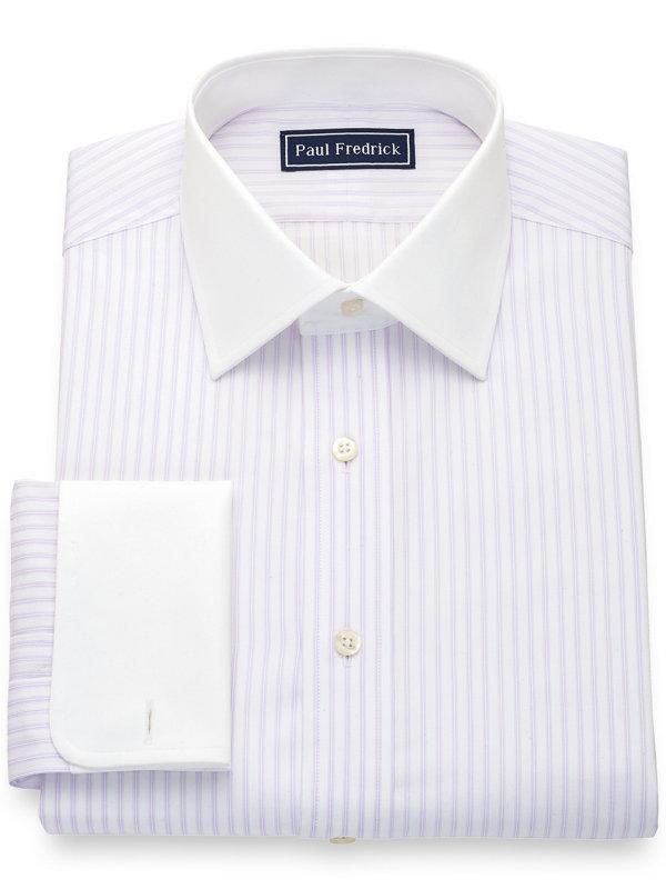 Pure Cotton Twill Stripe Dress Shirt