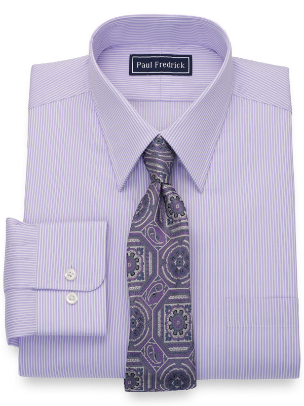 Pure Cotton Twin Stripe Dress Shirt