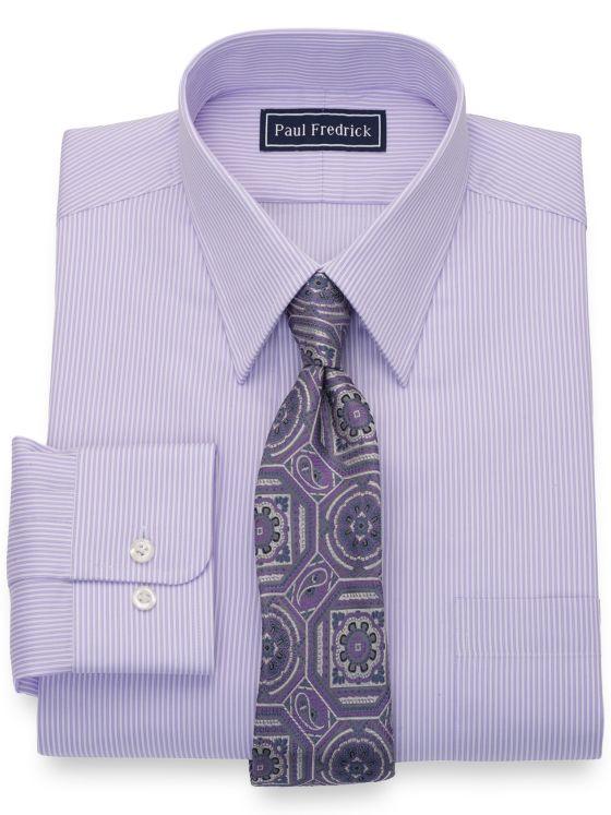 Slim Fit Pure Cotton Twin Stripe Dress Shirt