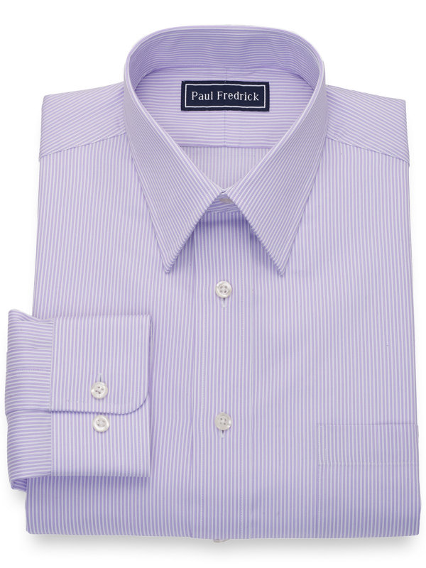 Slim Fit Pure Cotton Twin Stripe Dress Shirt