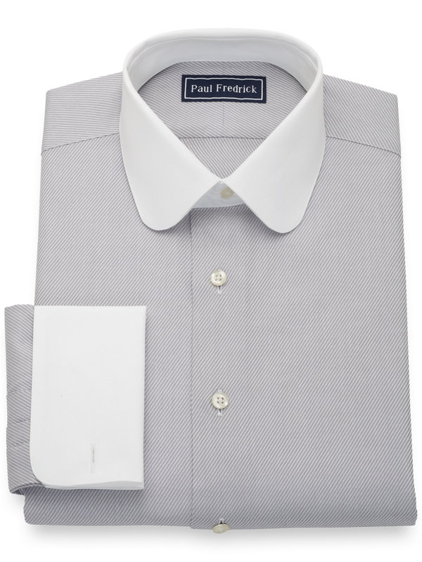 Pure Cotton Twill White Dress Shirt