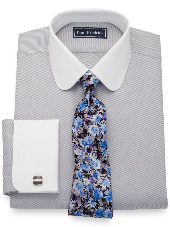 Slim Fit Pure Cotton Twill White Dress Shirt