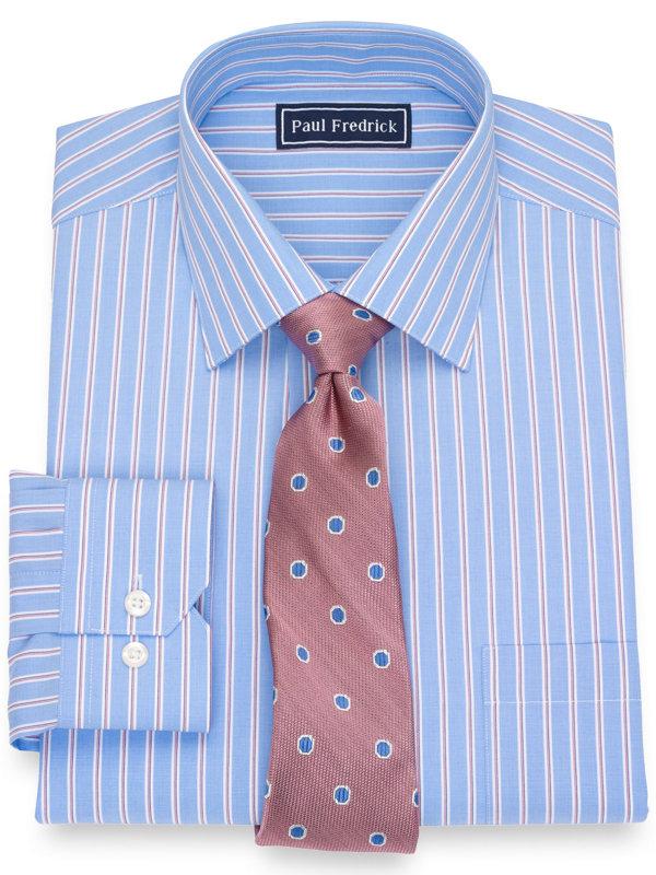Slim Fit Pure Cotton Stripe Dress Shirt