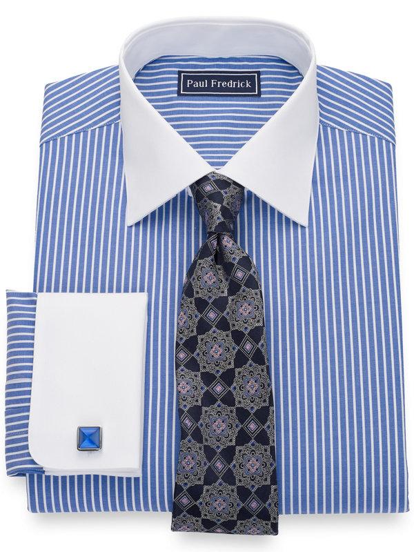 Slim Fit Pure Cotton Stripe Dress Shirt