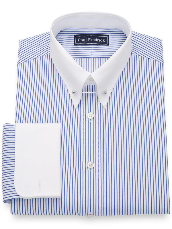 Pure Cotton Stripe Dress Shirt