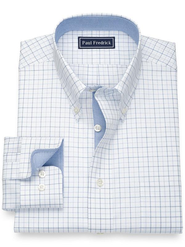 Pure Cotton Check Dress Shirt with Contrast Trim