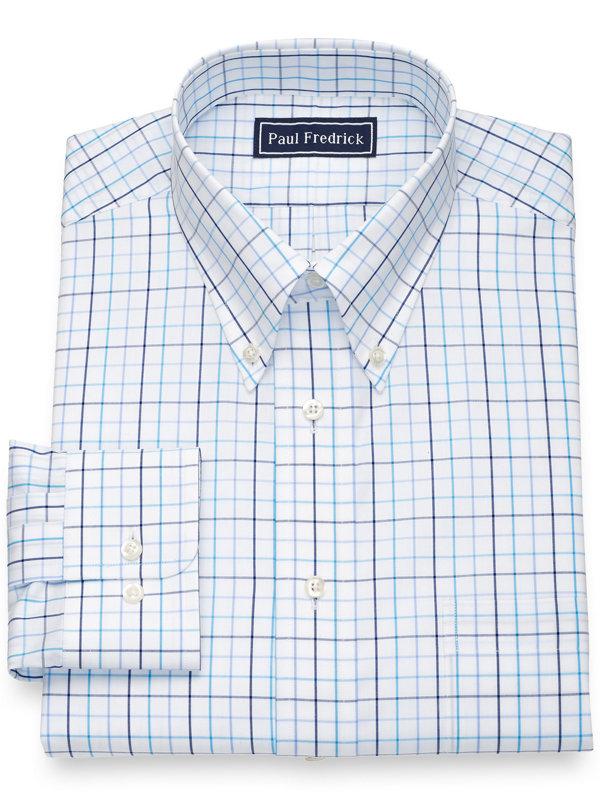 Pure Cotton Tattersall Dress Shirt