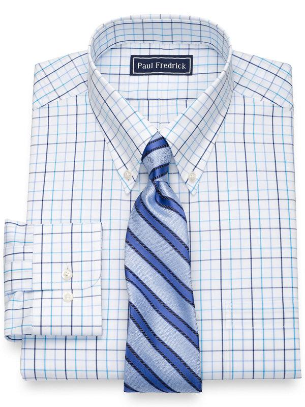 Slim Fit Pure Cotton Tattersall Dress Shirt