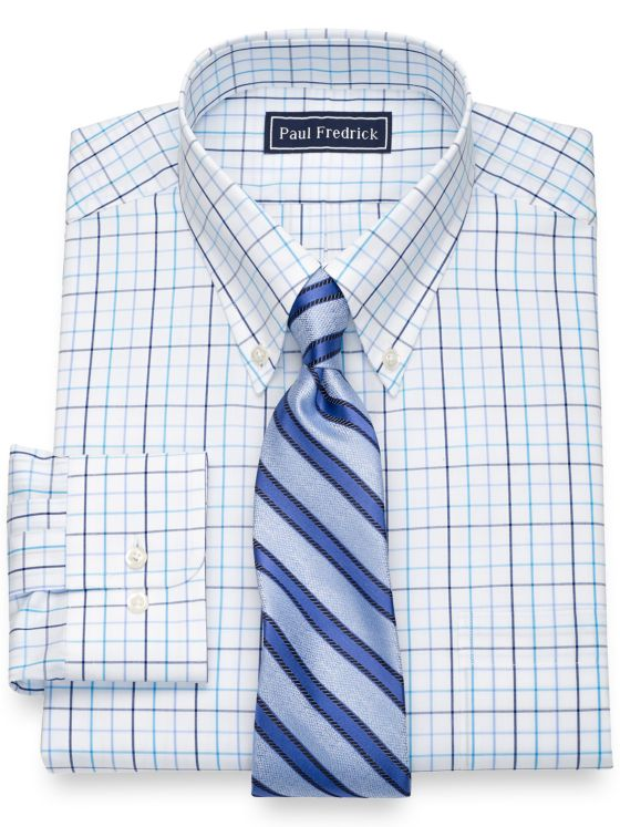 Slim Fit Pure Cotton Tattersall Dress Shirt
