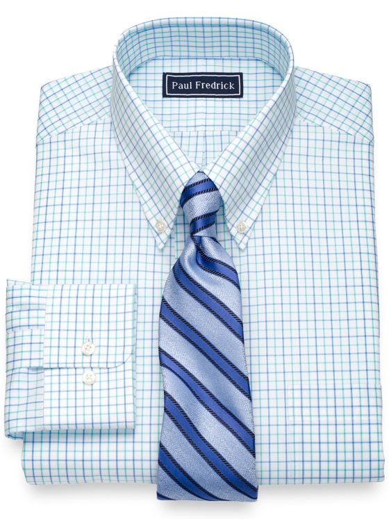 Slim Fit Pure Cotton Check Dress Shirt