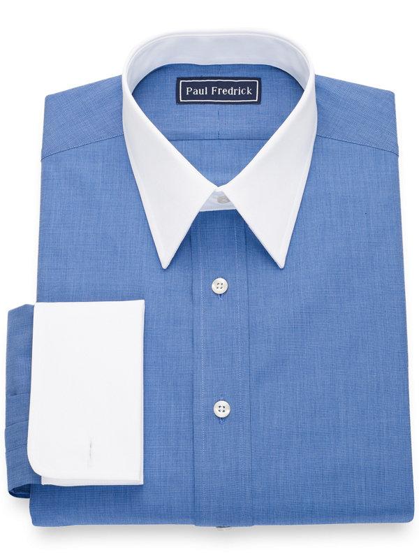 Slim Fit Pure Cotton Solid White Dress Shirt