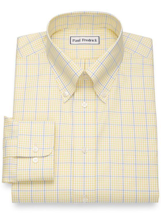 Non-Iron Cotton Pinpoint Windowpage Dress Shirt