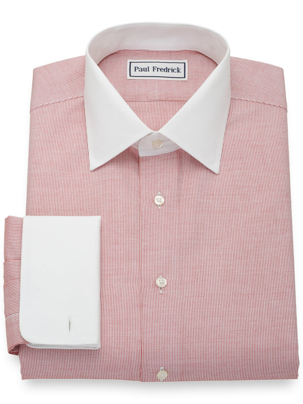 Slim Fit Non-Iron Pure Cotton Textured Solid Dress Shirt