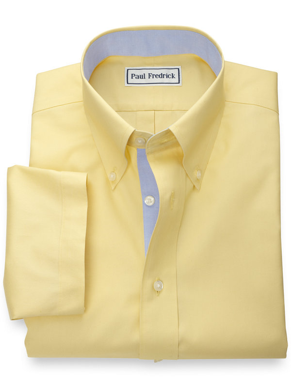 Non-Iron Cotton Pinpoint Solid Short Sleeve Shirt