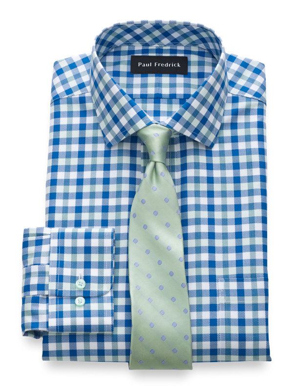 Impeccable Non-Iron Cotton Gingham Dress Shirt
