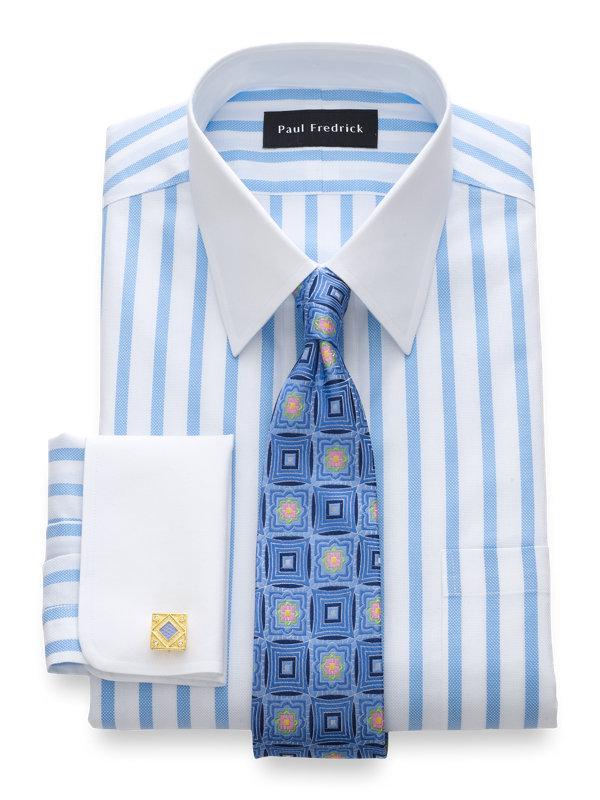 Slim Fit Impeccable Non-Iron Cotton Stripe Dress Shirt