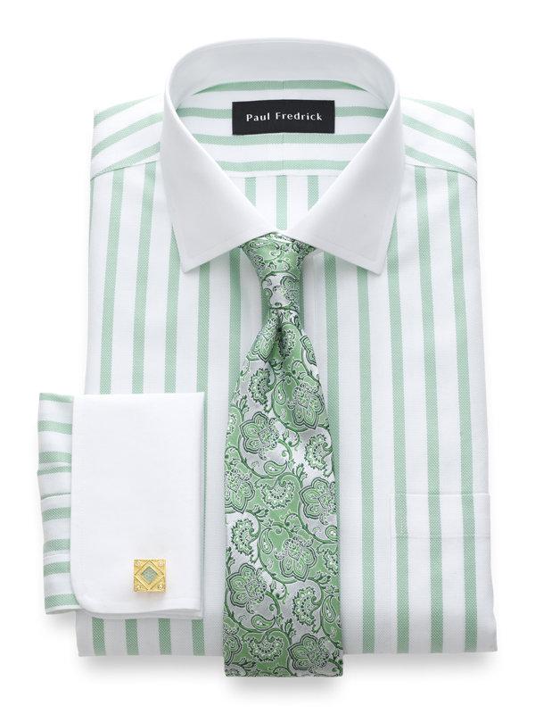 Impeccable Non-Iron Cotton Stripe Dress Shirt