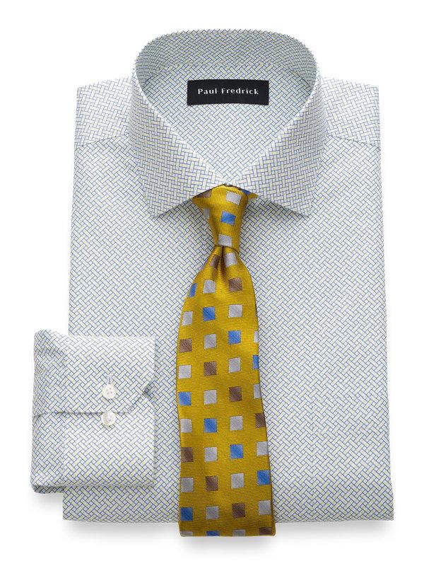 Non-Iron Cotton Geometric Print Dress Shirt