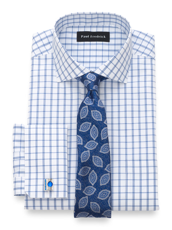 Tailored Fit Non-Iron Cotton Check Dress Shirt