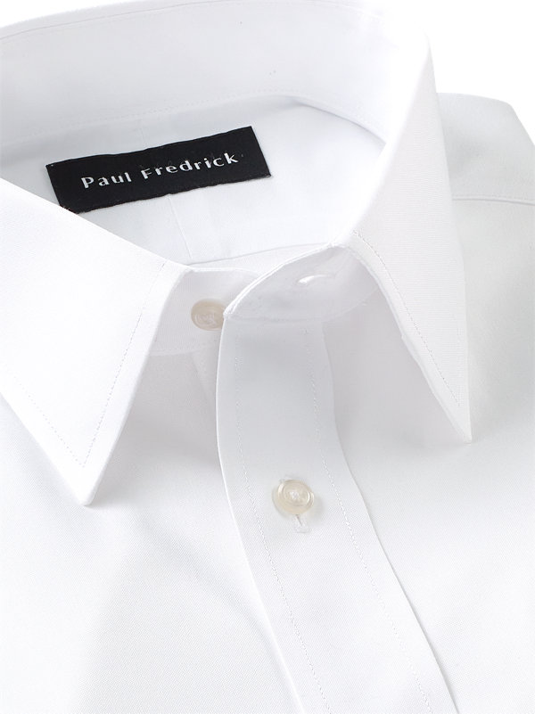 Tailored Fit Impeccable Non-Iron Cotton Pinpoint Straight Collar Dress Shirt