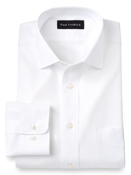 Tailored Fit Impeccable Non-Iron Cotton Solid Color Spread Collar Dress Shirt