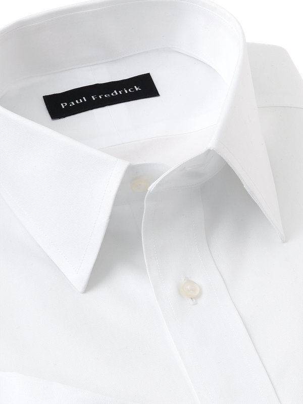 Tailored Fit Non-Iron Cotton Pinpoint Straight Collar French Cuff Dress Shirt