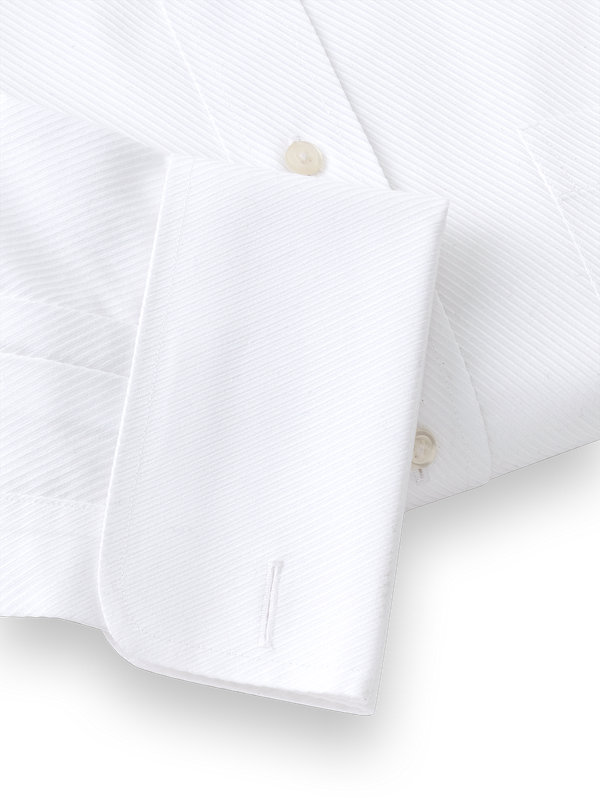 Tailored Fit Non-Iron Solid Color Twill Spread Collar French Cuff Dress Shirt