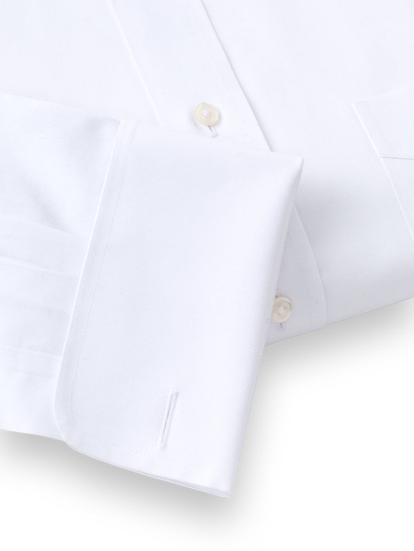 Tailored Fit Impeccable Non-Iron Cotton Straight Collar French Cuff Dress Shirt