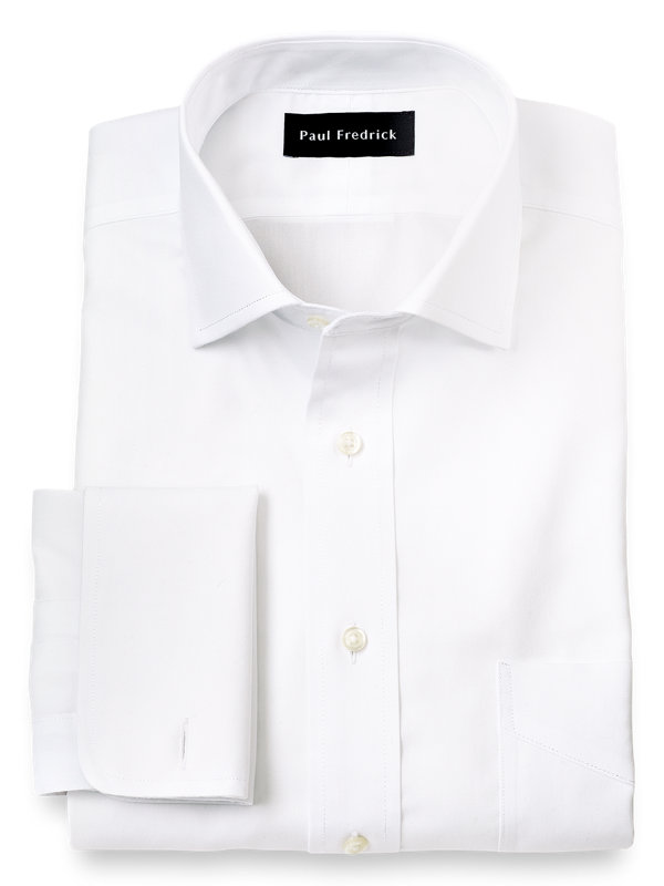Tailored Fit Impeccable Non-Iron Cotton Spread Collar French Cuff Dress Shirt