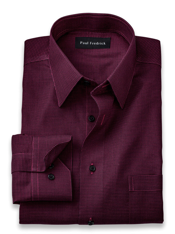 Tailored Fit Non-Iron Cotton Textured Solid Dress Shirt