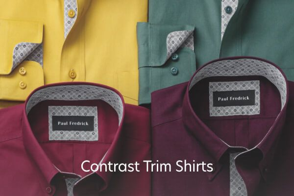 Contrast Trim Shirts