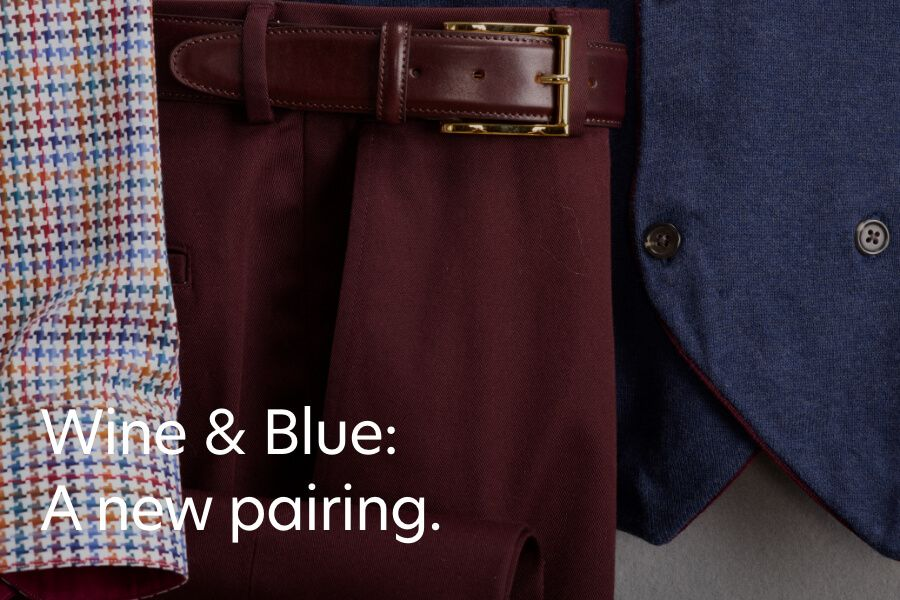 Fall Colors - Wine and Blue