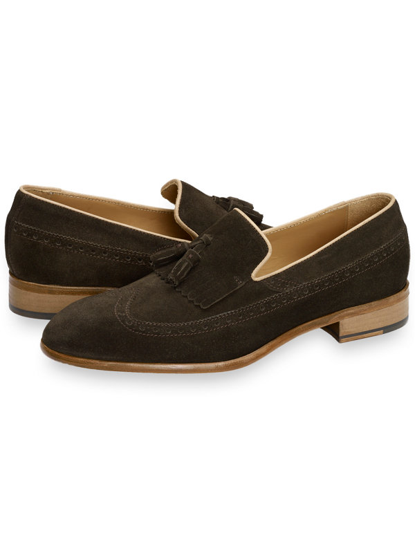 Christian Wingtip Tassel Loafer