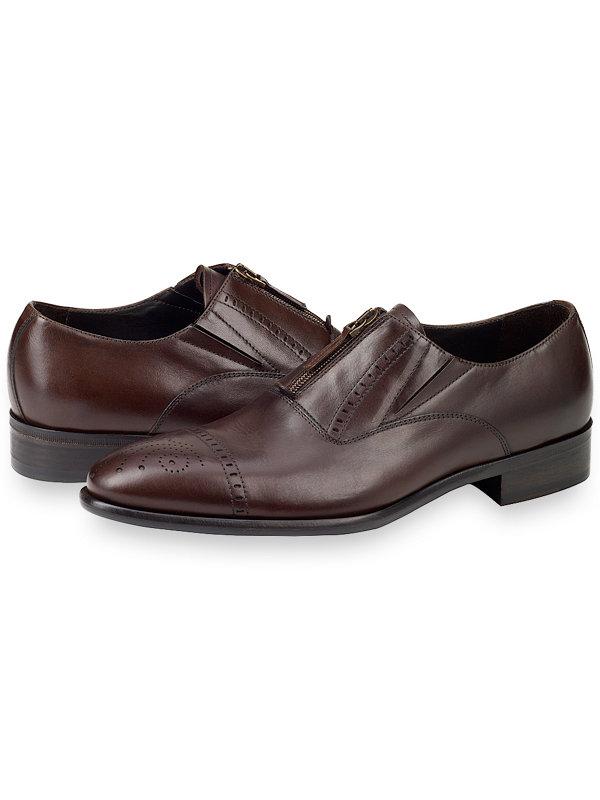 Jarrod Cap Toe Zip Loafer