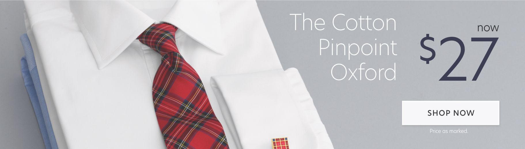 $27 Pinpoint Cotton Dress Shirts
