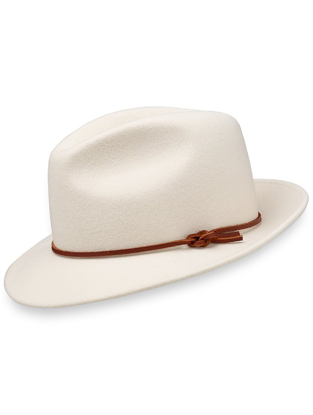 Wool Fedora With Leather Band